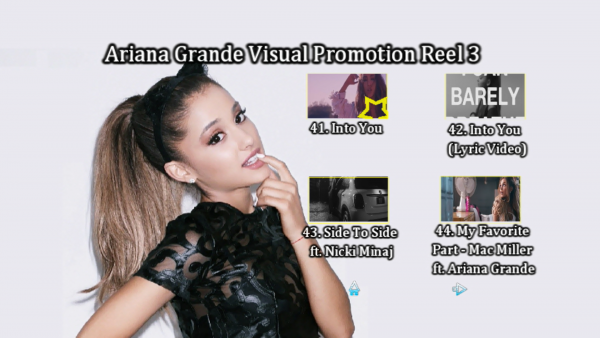 ARIANA GRANDE Music Video Reel 3 DVD Menu Page 2png