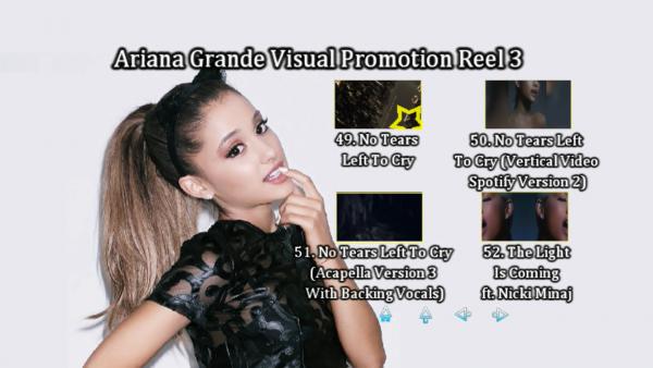 ARIANA GRANDE Music Video Reel 3 DVD Menu Page 4