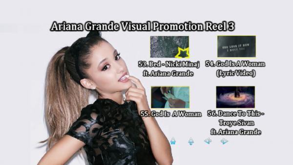 ARIANA GRANDE Music Video Reel 3 DVD Menu Page 5