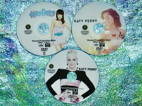 KATY PERRY Visual Promotional Reel with 78 Music Videos 3 DVD Set