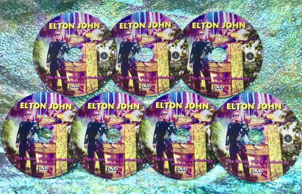 ELTON JOHN The Music Video Anthology 1969-2021 7 DVD Set