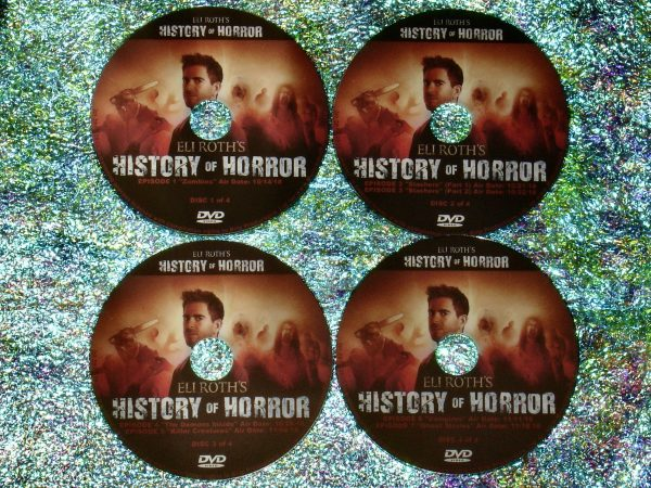 Eli Roth's History of Horror 4 DVD Set (Full Mini Series – Episodes 1 to 7 - 4 Hours 56 Minutes)
