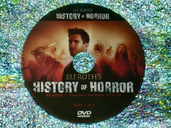 Eli Roth's History of Horror 4 DVD Set (Full Mini Series – Episodes 1 to 7 - 4 Hours 56 Minutes) Disc 1 of 4