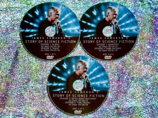James Cameron's Story of Science Fiction 3 DVD Set Full Mini Series - Eps 1 to 6