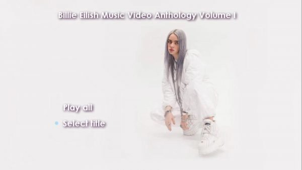 Billie Eilish Music Video Anthology Volume I DVD Menu Page 1