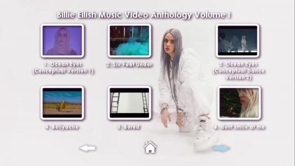 Billie Eilish Music Video Anthology Volume I DVD Menu Page 2
