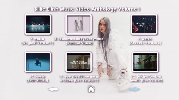 ish Music Video Anthology Volume I DVD Menu Page 3