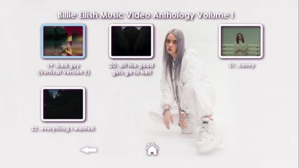 Billie Eilish Music Video Anthology Volume I DVD Menu Page 5