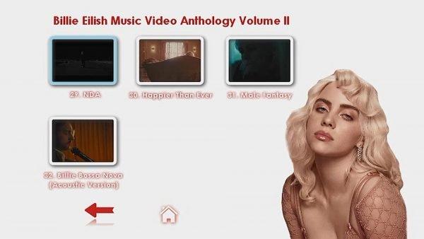 Billie Eilish Music Video Anthology Volume II Menu Page 2