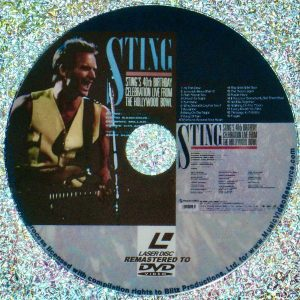 STING 40th Birthday Celebration Live From The Hollywood Bowl (1991) (Remastered from LaserDisc to DVD) (Andy Somers and The Special Beat)