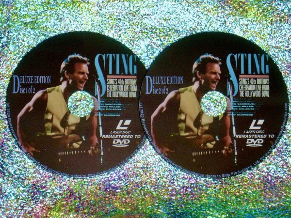 STING 40th Birthday Celebration Live From The Hollywood Bowl 2 DVD Set (1991) (Remastered from LaserDisc to DVD)