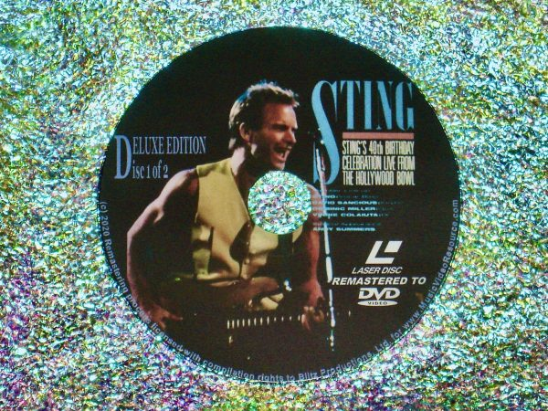 STING 40th Birthday Celebration Live From The Hollywood Bowl 2 DVD Set (Disc 1 of 2) (1991)