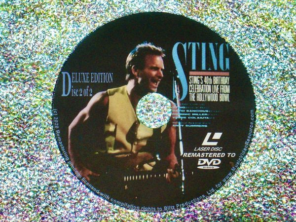 STING 40th Birthday Celebration Live From The Hollywood Bowl 2 DVD Set (Disc 2 of 2)
