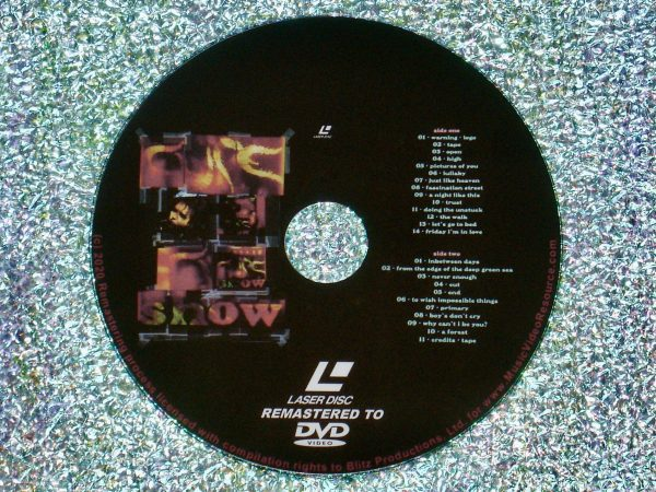 The Cure show (1993) (Remastered from LaserDisc to DVD)