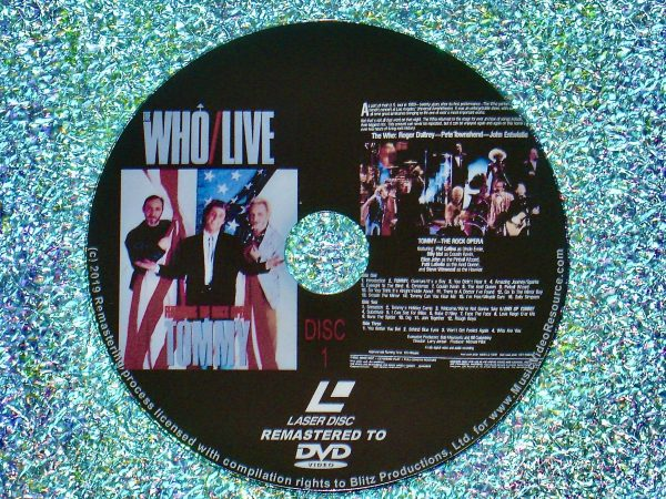 The Who Live Featuring The Rock Opera Tommy (1986) (Remastered from LaserDisc to DVD) Disc 1 of 2