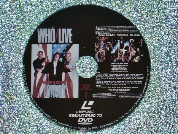 The Who Live Featuring The Rock Opera Tommy (1986) (Remastered from LaserDisc to DVD) Disc 2 of 2