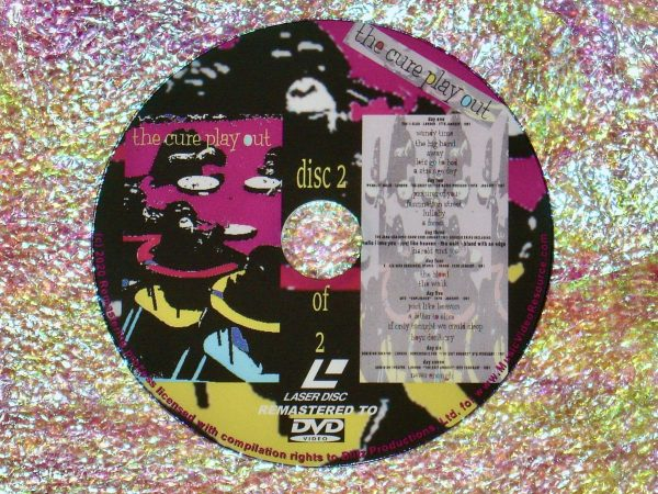 "the cure play out ""DELUXE EDITION"" 2 DVD Set disc 2 of 2 (1992) (Remastered from LaserDisc to DVD)"