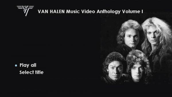 VAN HALEN The Music Video Anthology 1978-1993 Volume I Menu Page 1 of 6