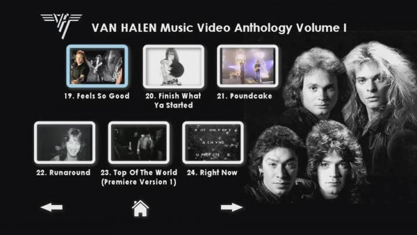VAN HALEN The Music Video Anthology 1978-1993 Volume I Menu Page 5 of 6