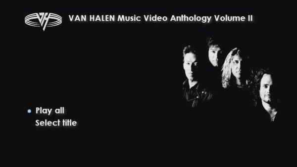 VAN HALEN The Music Video Anthology 1993-2012 Volume II Menu Page 1 of 3