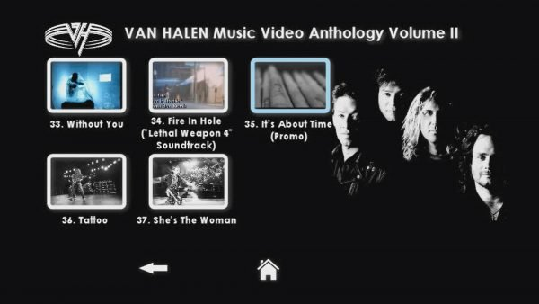 VAN HALEN The Music Video Anthology 1993-2012 Volume II Menu Page 3 of 3
