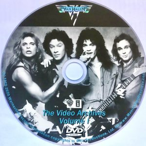 VAN HALEN The Video Archives Volume I DVD (2018 Documentary)