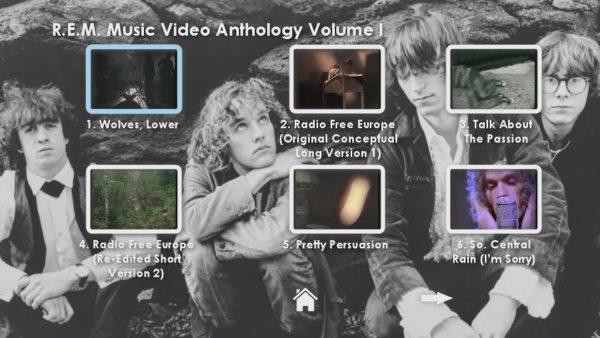 REM Anthology Volume I Menu Page 2