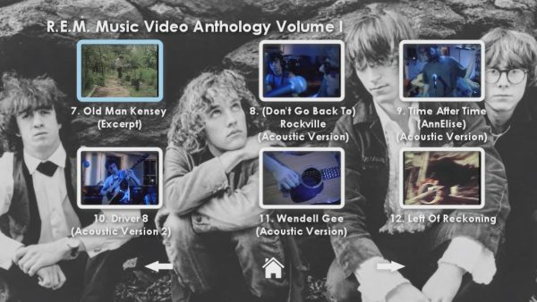 REM Anthology Volume I Menu Page 3