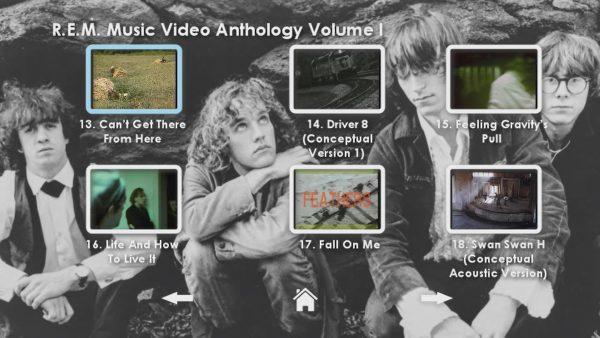 REM Anthology Volume I Menu Page 4
