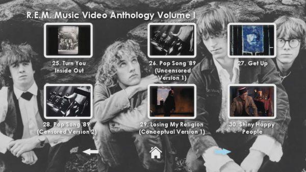 REM Anthology Volume I Menu Page 5