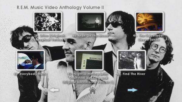 REM Anthology Volume II Menu Page 3