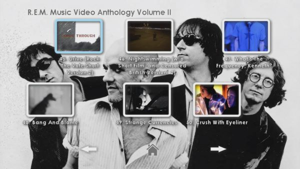 REM Anthology Volume II Menu Page 4