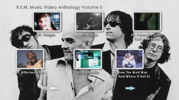 REM Anthology Volume II Menu Page 5