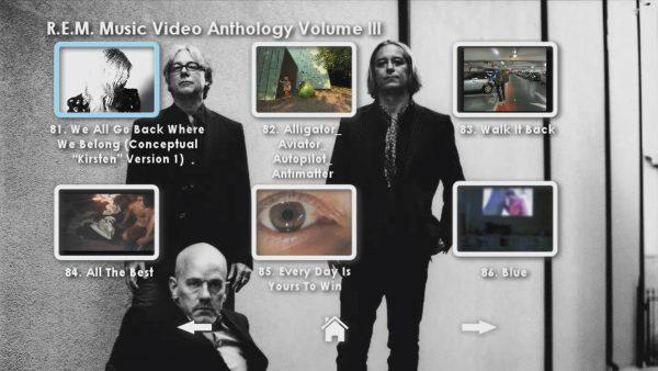 REM Anthology Volume III Menu Page 5