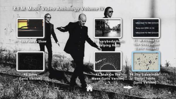 REM Anthology Volume IV Menu Page 2