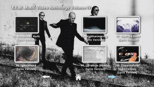 REM Anthology Volume IV Menu Page 3
