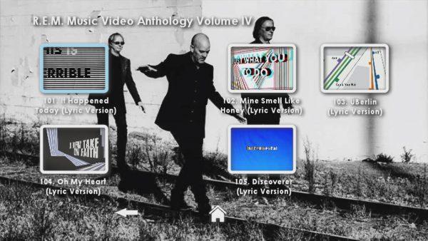 REM Anthology Volume IV Menu Page 4