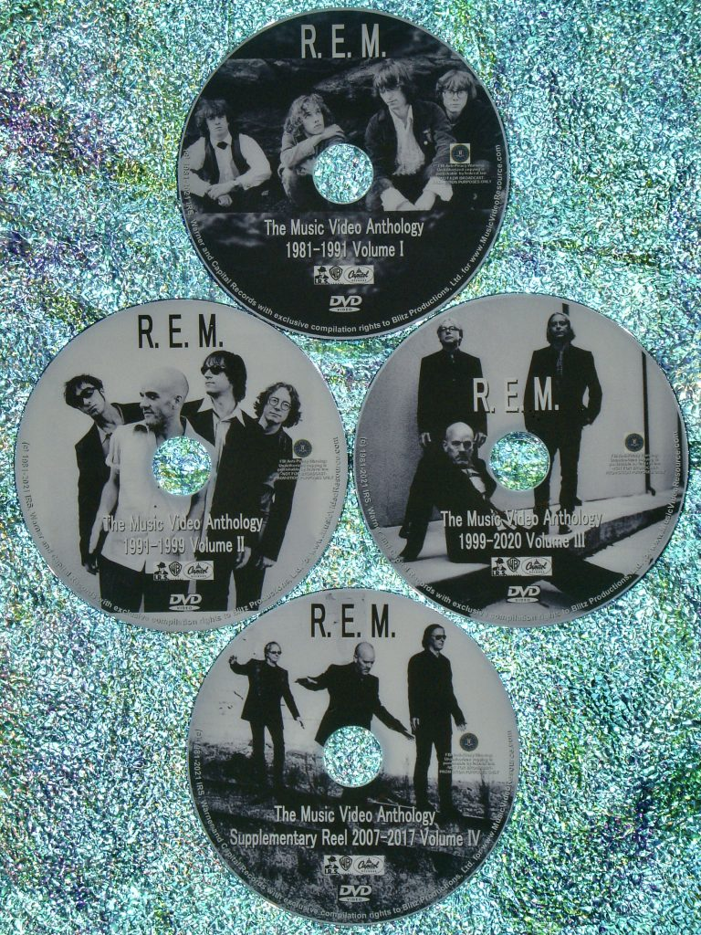 R.E.M. The Music Video Anthology 1981 to 2021 4 DVD Set